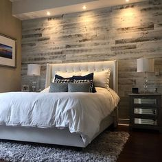 Stikwood ( The perfect accent wall Palette Furniture, Room Furniture Design, Eclectic Furniture, Bedroom Bed Design, Wood Bedroom Furniture, Modern Bedroom Design, Home Decor Bedroom, Bedroom Wall, Pipe Furniture