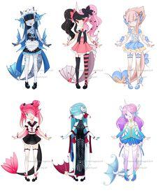 Dexettes - CLOSED by kawaii-antagonist - - Kawai Japan, Drawing Anime Clothes, Cute Anime Chibi, Cute Art Styles, Fashion Design Drawings, Image Manga, Cute Characters, Anime Outfits, Character Drawing