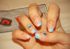 Funny french nail design by PinkiePayne - Nail Art Gallery nailartgallery.nailsmag.com by Nails Magazine www.nailsmag.com #nailart