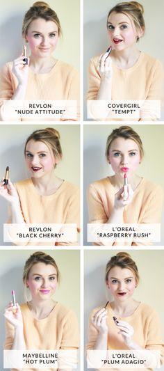 Best Drugstore Lipsticks #poorlittlegirl #lippies