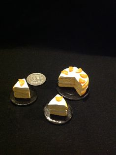 1/12 scale orange cake made in polymer clay