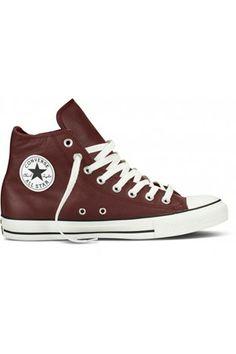 Converse All Stars (High Cut) Brun læder. Str. 39