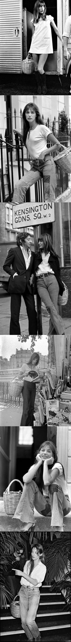 JANE BIRKIN & Serge Gainsbourg   at Kensington Gardens  Sq. where i was staying in London.