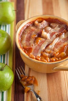 apple baked bean casserole