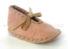 Suede Leather Baby Slippers with Sheepskin Innersoles for Newborn to 18 Month Babies
