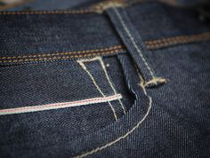 denim.lab selvage denim coinpocket detail - men's fashion