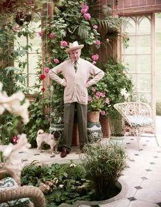 Cecil Beaton in his Garden Room.