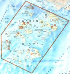 Map of the Broken Island Group