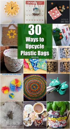 30 Amazing Upcycling Ideas To Turn Grocery Bags Into Spectacular Creations via Vanessa upcycled crafts Plastic Bag Crafts, Plastic Bag Crochet, Recycled Plastic Bags, Plastic Grocery Bags, Recycled Gifts, Recycled Products, Recycled Magazines, Upcycled Crafts, Diy Crafts To Sell