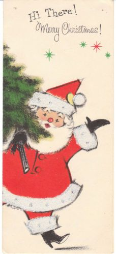 """Hi there! Merry Christmas!"" Mid-Century #Christmas card"