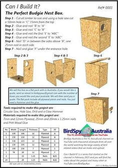 budgie nesting box plans - Google Search