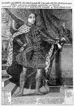 Habsburg Josef I. during his coronation, wearing Hungarian outfit