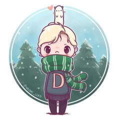 "7,919 Likes, 102 Comments - Naomi Lord (@naomi_lord) on Instagram: ""❄️Winter Draco and a Ferret ❄️ I love drawing chibis with grumpy faces :< • #draco…"""