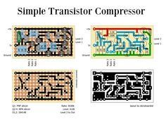 Perf and PCB Effects Layouts: Simple Transistor Compressor