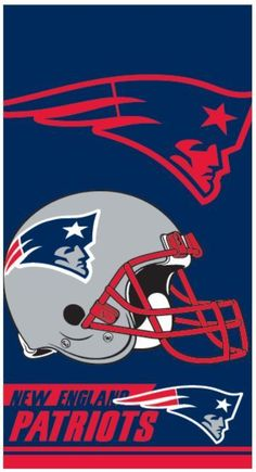 23de57f8102 NFL New England Patriots Bath Pool Beach Towel 30x60 Double Cover Football  LIC.  Northwest