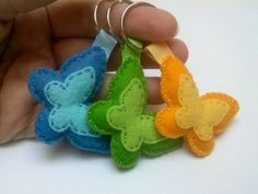 DELIVERY AFTER NEWYEAR Butterfly keychain  Felt by DusiCrafts