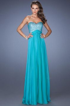 2014 Sweetheart Open Back A Line Sweep Train Prom Dresses Simple Style