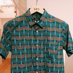 Chemise manches courtes à motif APC