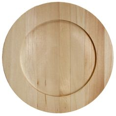 Decorate this basswood plate to hang on the wall, use as a charger under a dinner plate or use as a base for a silk flower or candle centerpiece. The plate is ready to stain, paint, stencil, decoupage
