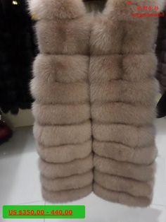 Linhaoshengyue 85cm long fox vest Natural fur