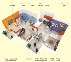 Two Bedroom House Design Pictures Interesting A Twobedroom Home May Not Have The Dimensions Of A Mansion But Decorating Design