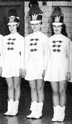 A young Debbie Harry, on the Drill Team of her High School Marching Band,  late 1950s
