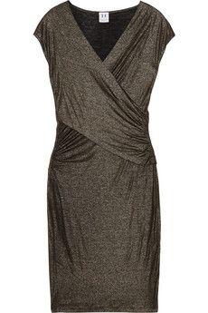 Halston Heritage Metallic jersey dress