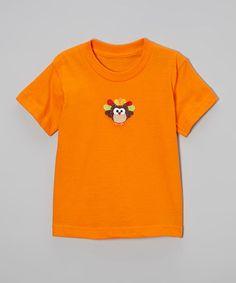 Another great find on #zulily! Orange Owl Turkey Tee - Toddler & Kids #zulilyfinds