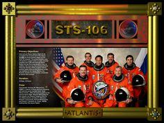 STS-106 Crew poster