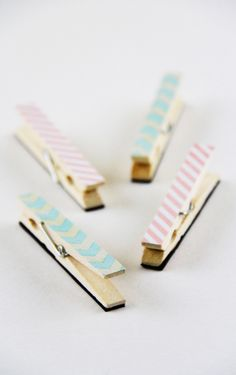*Lovely Clusters - The Pretty Blog: DIY: Pretty Clothespin Magnets