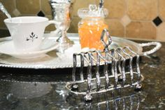 Antique English Silver Plate Toast Rack  Israel by PearlsParlor