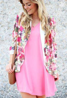 Pink Floral | Living In Color Print