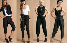 What to wear with harem pants; discover the best outfits to wear with harem pants. How to wear harem pants: the best way to wear harem pants women Baggy Pants Outfit, Mc Hammer Pants, Dance Outfits, Cute Outfits, Fall Pants, Harem Trousers, Professional Outfits, Look Fashion, Fashion Hub