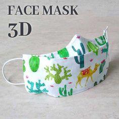 Easy Face Masks, Face Masks For Kids, Diy Face Mask, Sewing Patterns Free, Free Sewing, Pattern Sewing, 3d Face, Pocket Pattern, Diy Mask