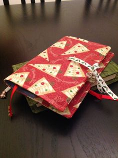 Handmade book cover. Stylish & re-usable. Ideal gift for Christmas!