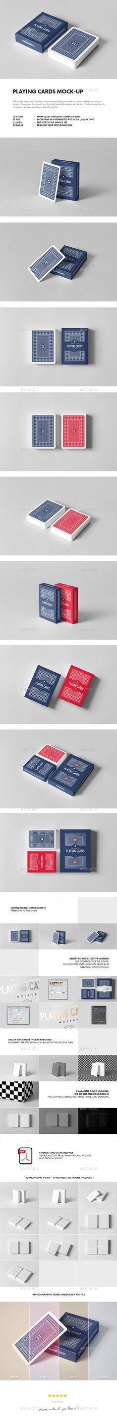 Playing Card Mockup — Photoshop PSD #mockup #carton • Download ➝ https://graphicriver.net/item/playing-card-mockup/19792590?ref=pxcr