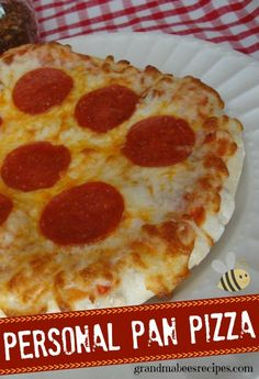 Personal Pan Pizzas - The dough is so easy!  This would be a great for a party - everyone tops their own pizza!