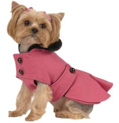 Max's Closet Pet Dog Clothing Designer Pink Pleated Coat Small Dog New XS L | eBay