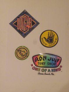 Vintage 1990s Surfing Stickers Gotcha Body Glove Ron Jon Surf Shop Neon Surf   GotchaBodyGloveRonJon Vintage c74a7e70baf