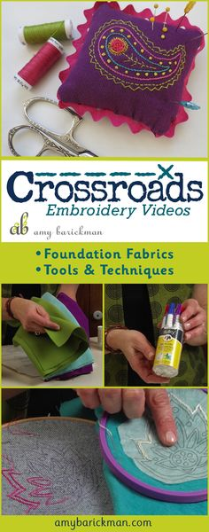 Indygo Junction Founder Amy Barickman gives an in depth tutorial for hand embroidery!