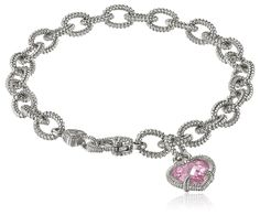Judith Ripka 'Fontaine' Single Heart Charm Bracelet, 7.5' * Startling review available here  : Jewelry Trends