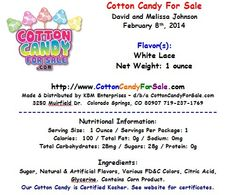 White Cotton Candy for Weddings