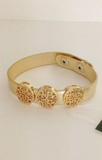 Scout Metallic Gold Cross Bracelet http://www.scoutandmollys.com/product/scout-metallic-gold-cross-bracelet/