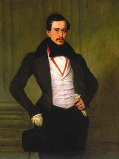 Retrato de Antoine Julien Meffre-Rouzan.  (1833). (by Eugène Devéria).