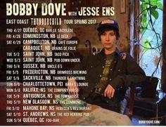 Bobby Dove THUNDERCHILD East Coast Release Tour w/ Jesse Ens http://ift.tt/2qGv0ad . Thu 4/27 Québec QC @ Le Sacrilège w/ Cold Folks - 6 pm . Fri 4/28 Edmundston NB @ Bar Resto Le Deck - 10:30 pm . Sat 4/29 Campbellton NB @ Café Europa - 1 pm . Caraquet NB @ Grains Folie - 7:30 pm . Tue 5/2 Saint John NB @ Taco Pica - 7 pm . Wed 5/3 Saint John NB @ Pub Down Under - 9 pm . Thu 5/4 Sussex NB @ Uncle G's - 9 pm . Fri 5/5 Fredericton NB @ Grimross Brewing Co. w/ Eloie Richard - 8 pm . Sat 5/6…