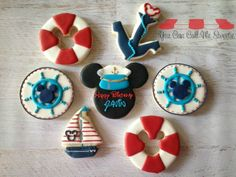 mickey goes sailing Sailor Birthday, Mickey Party, Mickey Mouse Birthday, 1st Birthday Themes, First Birthday Parties, First Birthdays, Birthday Ideas, Mickey Mouse Cookies, Disney Cookies