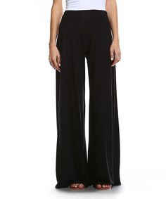 Look what I found on #zulily! A La Tzarina Black Palazzo Pants by A La Tzarina #zulilyfinds