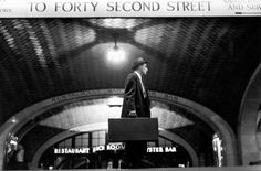 A salesman at Grand Central. Terminal makes his way toward Street in this photograph. Today, about people move through Grand Central every day, MTA estimates. Photo New York, Orlando, Restaurant Identity, Bw Photography, Inspiring Photography, Great America, 42nd Street, Nbc News, Photos