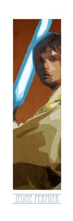 Luke Skywalker ! Retrouvez toute la Série POP CULTURE Limitées en 10 Exemplaires Numérotés et proposés sur support rigide au format 90cm x 35cm