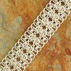 chain mail bracelet - bound and determined to learn how to make these! #chainmaille